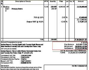 Print Previous Balance in Sales Invoice